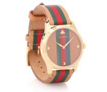 Uhr G-Timeless mit Lederarmband