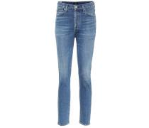 High-Rise Slim Jeans Olivia aus Baumwolle