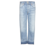 High Rise Relaxed Crop Jeans Cora
