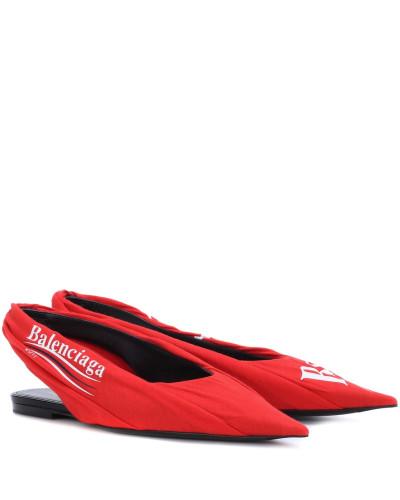 Billig Verkauf Größte Lieferant Balenciaga Damen Bedruckte Slingback-Ballerinas Knife Bester Großhandel Mehrfarbig Bester Platz m6KHW7PZDc