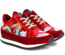 Sneakers Work It Dragon aus Samt