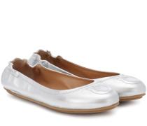 Ballerinas Gancini aus Metallic-Leder