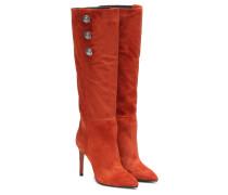 Stiefel aus Veloursleder