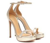 Sandalen Cindy aus Metallic-Leder