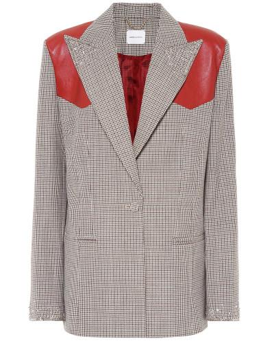 Karierter Mantel Arkansas aus Wolle