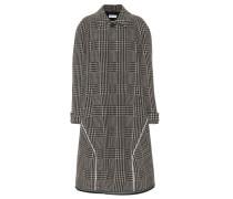Mantel mit Hahnentrittmuster aus Wolle