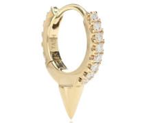Einzelner Ohrring Single Spike Clicker aus 14kt Gelbgold und Diamanten