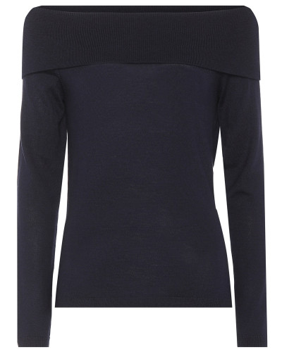Off-Shoulder Pullover aus Wolle