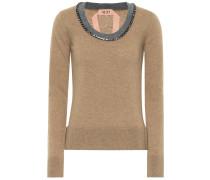 Verzierter Pullover aus Schurwolle