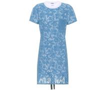 T-Shirt-Kleid aus Baumwolle mit Spitze