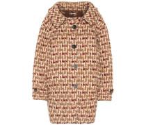 Oversize-Mantel aus Tweed