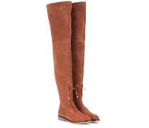 Overknee-Stiefel Arizona aus Veloursleder