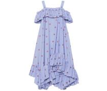 Alexander McQueen Besticktes Kleid aus Baumwolle