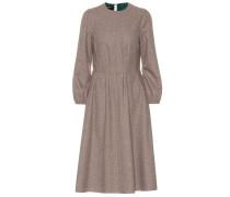 Kariertes Kleid aus einem Wollgemisch