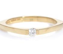 Ring Aro Escondida aus 9kt Gelbgold mit Diamant