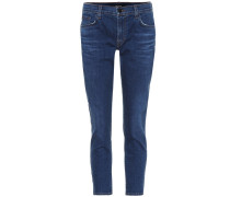 Mid-Rise Cropped Jeans Sadey
