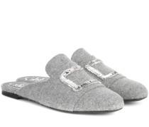 Exklusiv bei Mytheresa – Slippers mit Stickerei