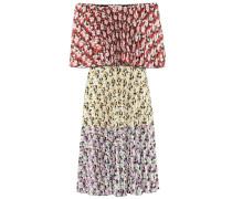 Plissiertes Off-Shoulder-Kleid