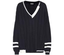 Pullover mit V-Ausschnitt aus Wolle