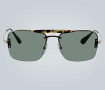 Sonnenbrille mit halbem Rahmen