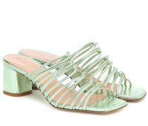 Sandalen Pearl aus Metallic-Leder