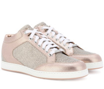 Sneakers Miami aus Metallic-Leder