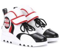 High-Top-Sneakers aus Nappaleder