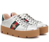 Sneakers Ace aus Metallic-Leder