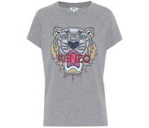 T-Shirt Tiger Logo aus Baumwolle