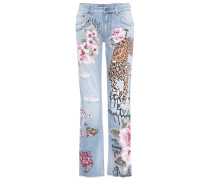Verzierte Distressed Jeans