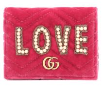 Portemonnaie GG Marmont aus Samt
