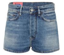 Blå Konst Jeansshorts