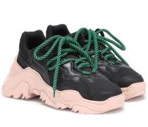 Sneakers Billy aus Leder und Mesh