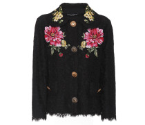 Jacke aus Spitze mit Blumenstickerei
