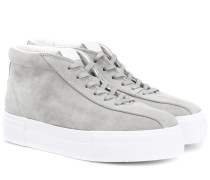 High-Top Sneakers Mother aus Veloursleder