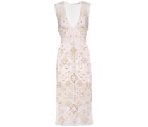 Besticktes Kleid Pamplona aus Seide und Baumwolle