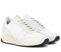 Sneakers Track Vintage mit Veloursleder