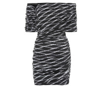 Bedrucktes Off-Shoulder-Kleid