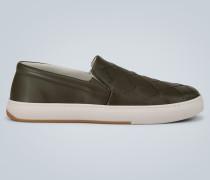 Sneakers aus Intrecciato-Kalbsleder