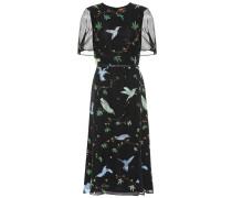 Bedrucktes Kleid Gorman aus Seide