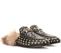 Slippers Princetown aus Leder