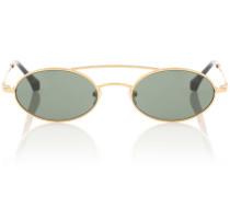 X Linda Farrow ovale Sonnenbrille