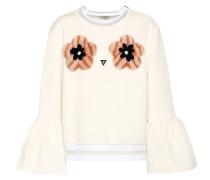 Pullover aus Baumwolle mit Nerz