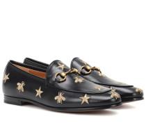 Bestickte Loafers Jordaan aus Leder