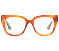 Brille mit eckigem Rahmen