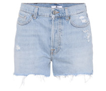 High-Rise Shorts Throwback Indigo