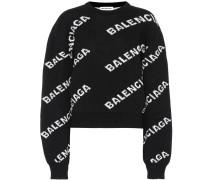 Oversize-Pullover aus einem Wollgemisch