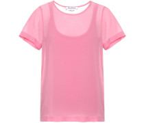T-Shirt Rino aus Seiden-Crêpe