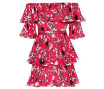 Off-Shoulder-Kleid aus Crêpe de Chine