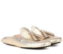 Loafers Gommino Circle aus Leder